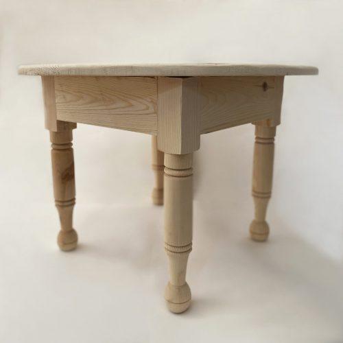 Mesa auxiliar de madera redonda de estilo vintag