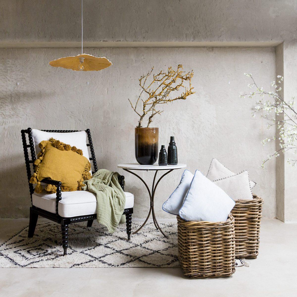 Lámpara techo flor blanca S