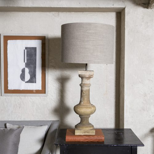 Lámpara antigua de terracota